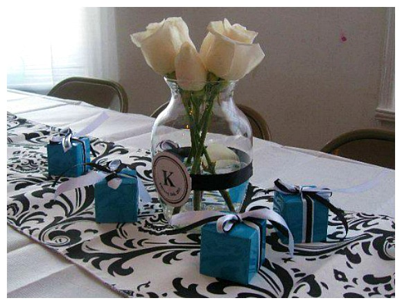 Tiffany Themed Party Baby Shower Decorations