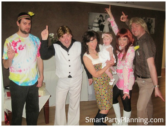 70's Theme Party 40th Wedding Anniversary