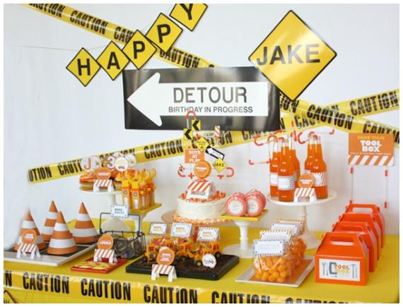 Boys Birthday Party Ideas Construction Party