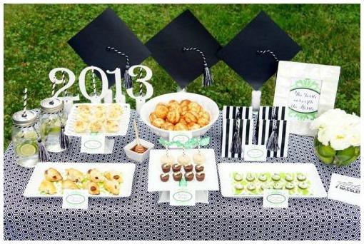 Modern stylish graduation party