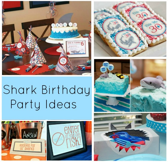 Here is an awesome selection of shark birthday party ideas to help with your planning. There are ideas for food, decorations and favors, which is everything you need to create an amazing shark party. The kids will love it, and it's easier than you think to organize. I love the favors in party #3 which are fantastic for all ages.