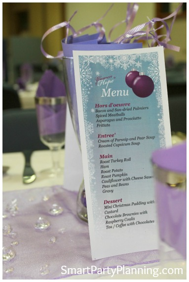 Christmas in July Party Menu