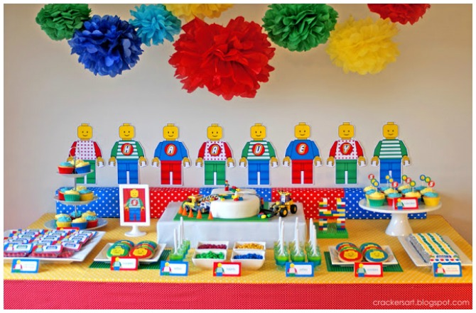 Colorful Lego party