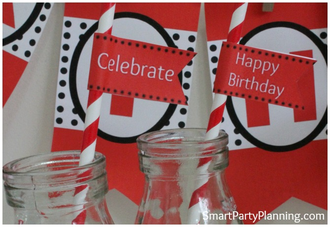 Ladybug printables party flags