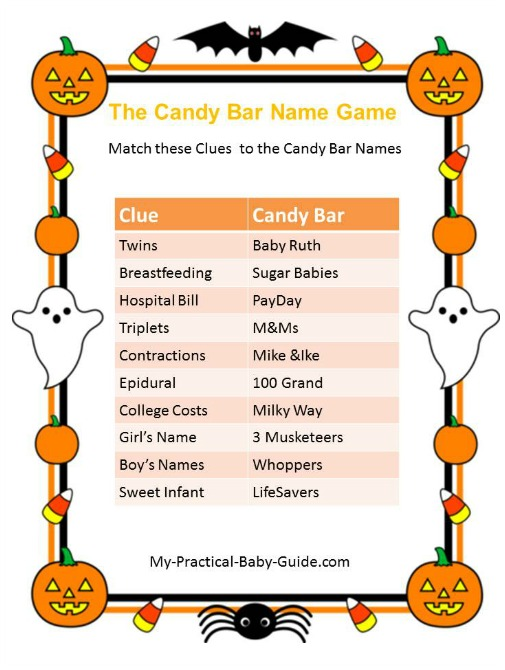 Halloween Printable Baby Shower Games
