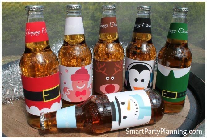 Christmas Printable Beer Labels