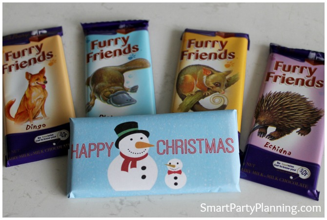 Cadbury Furry Friends chocolate bar wrappers