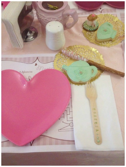 Princess tea party place setting