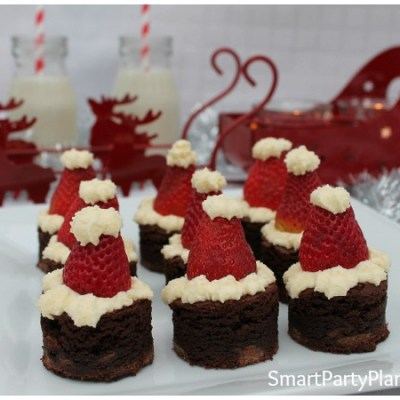 How To Easily Make Tantalizing Santa Hat Brownies