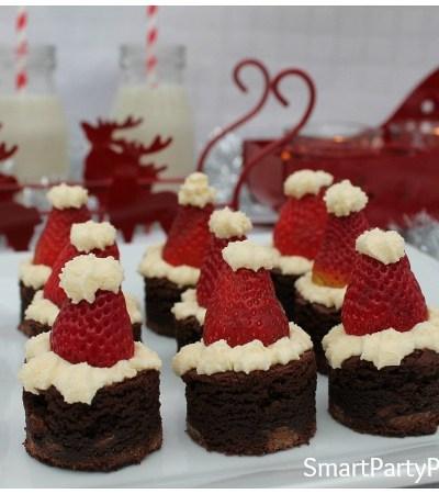 How To Easily Make Tantalizing Santa Hat Brownies