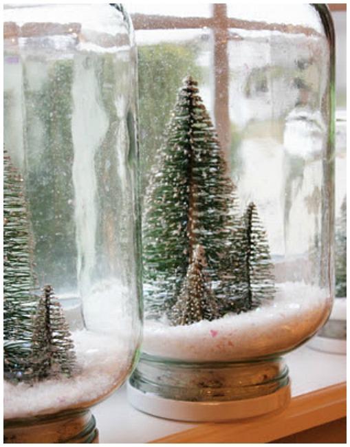 Handmade Christmas ornaments snowglobe