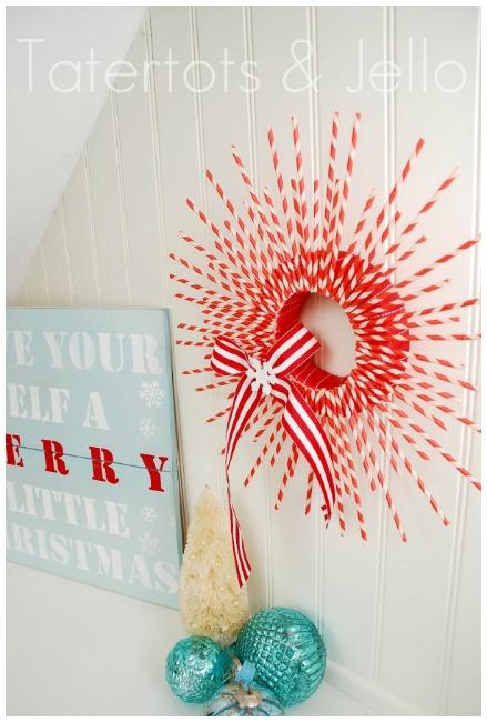 Straw Christmas Wreath