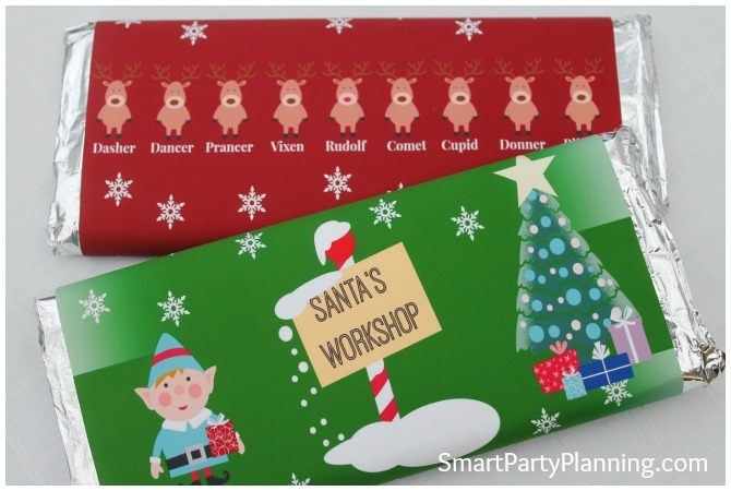 Christmas Chocolate Bar Wrappers