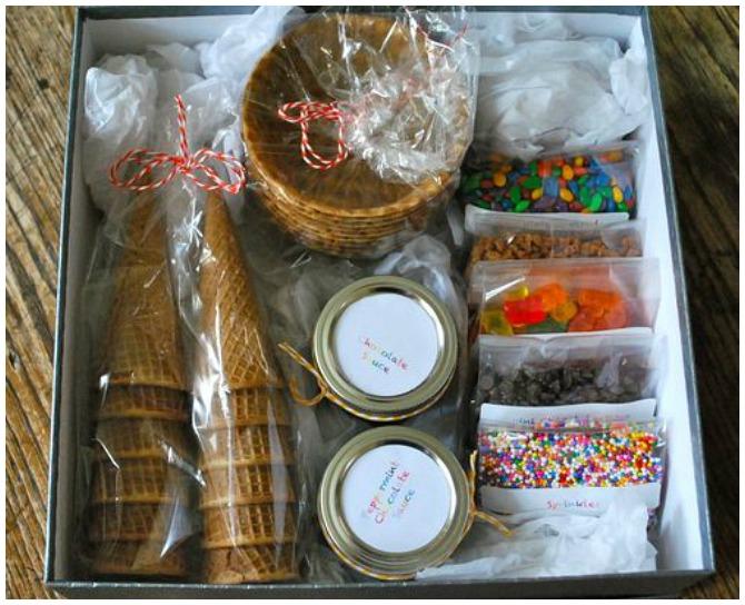 Christmas ice cream gift pack