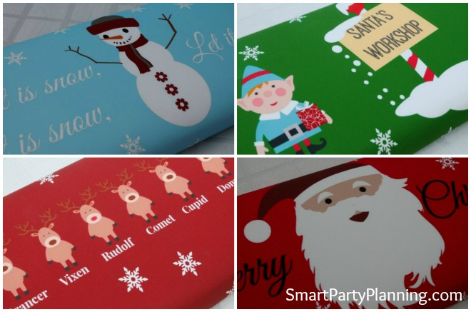 Christmas Chocolate Bar Wrappers