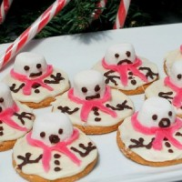 Melted snowman cookies are incredibly easy to make, taste delicious and perfect Christmas treats to make with the kids. Create quirky snowmen characters.