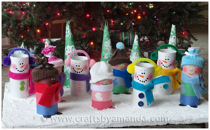 Snowmen Christmas Crafts For Kids