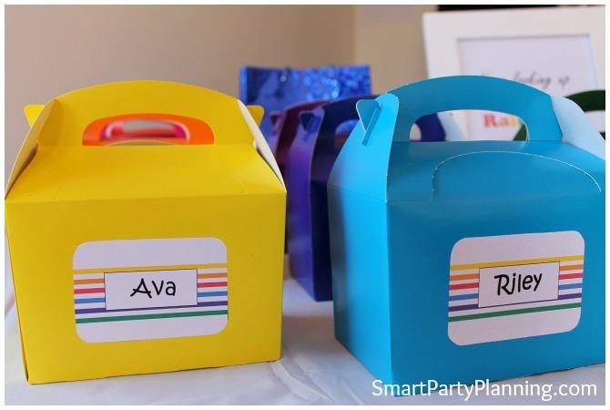 Rainbow Favor boxs
