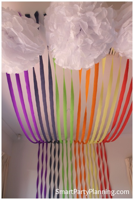 Rainbow birthday party decoration