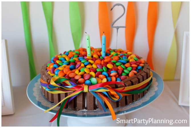 Rainbow birthday party cake