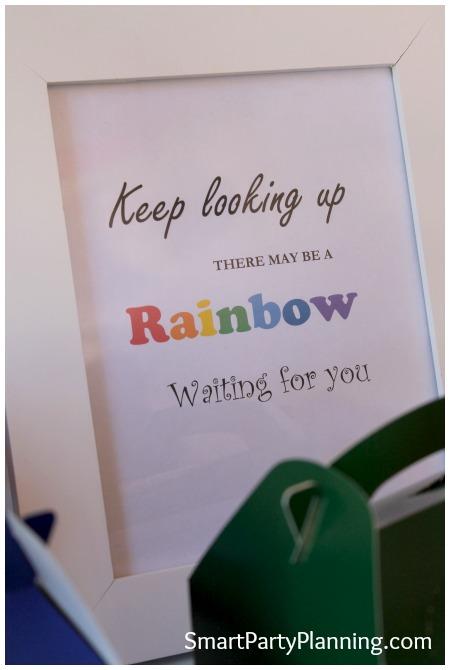 Rainbow birthday party printable