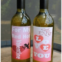 Printable Wine Labels For Valentines Day