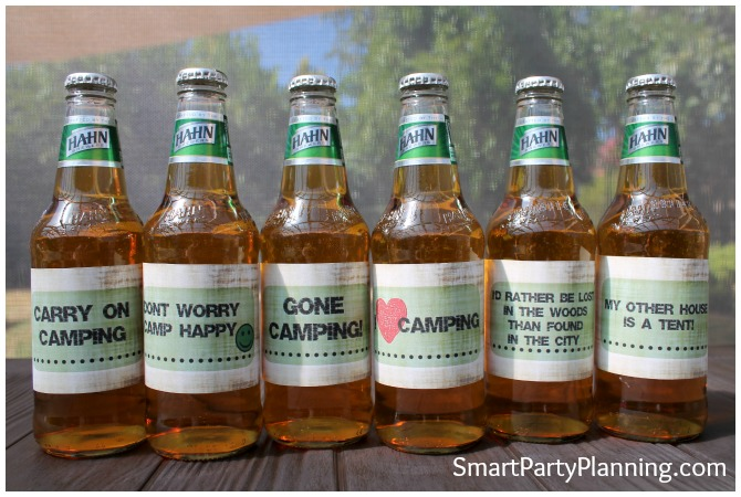 Camping Party Beer Labels