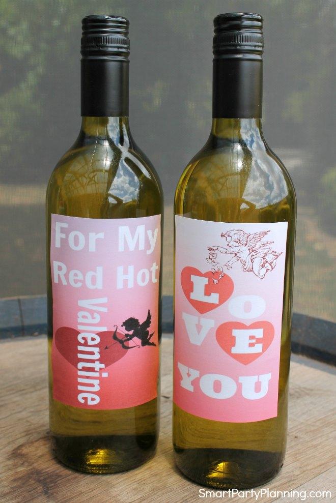 Printable Valentine Wine Labels