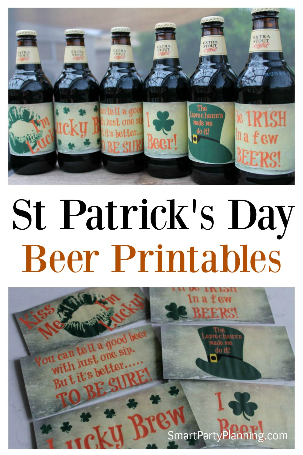 Celebrate St Patrick's with these cheeky St Patrick's day printables. They are easy to do and will add a touch of fun to your beer bottles.
