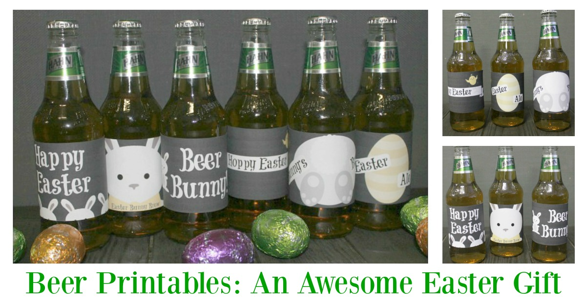 Easter gift beer labels printable beer labels make a perfect diy easter gift for those wanting to avoid chocolate this negle Images