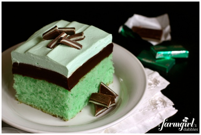 St Patrick's Day Desserts Grasshopper Cake
