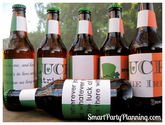 Irish Flag Beer Labels