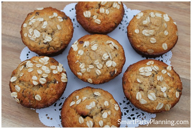 Plate of date muffins