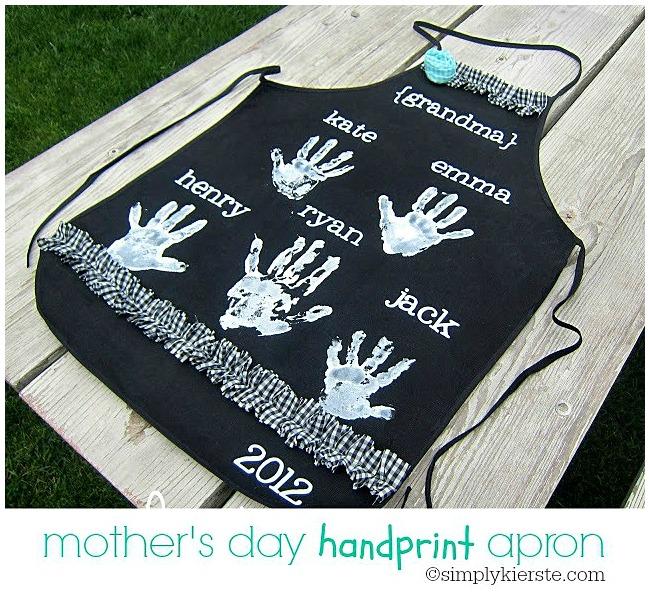 Mother's Day Craft Ideas Handprint Apron