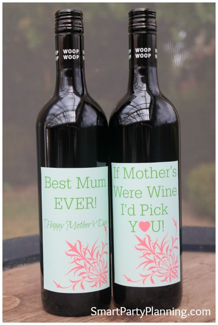 Mother's Day Wine Labels