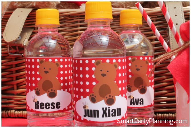 Teddy Bear Water Bottles