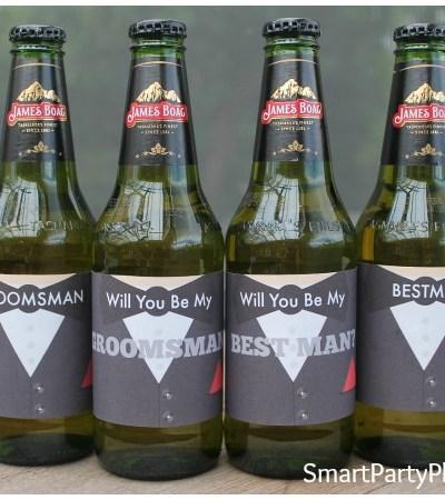 Wedding beer labels