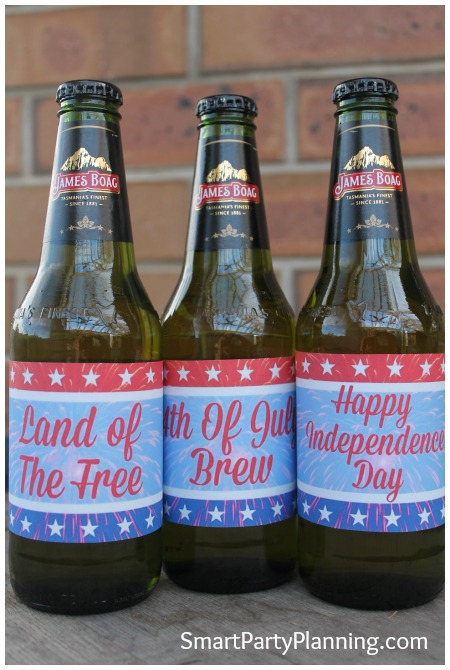 Printable beer labels for 4th July