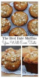 Oat and date muffins