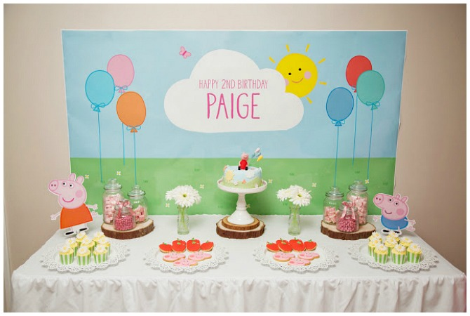 Pastel colored Peppa Pig Party