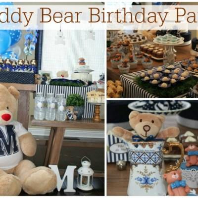 Twins Teddy Bear Birthday Party