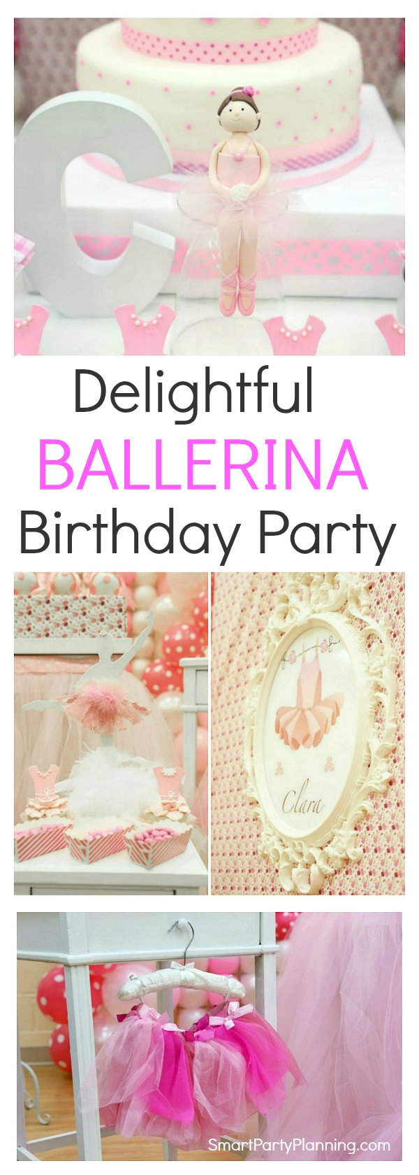 Gorgeous ballerina birthday party that would be any little girls dream. Showcasing stunning ballerina decorations, and beautifully styled food, this pink dreamy party will be sure to delight.