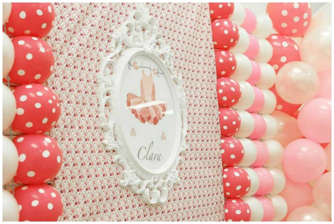 Ballerina Birthday Party Backdrop