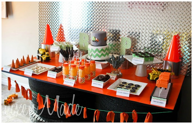 Construction Birthday Party Table