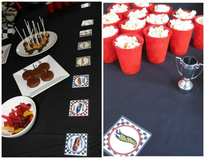 Hot Wheels Birthday Party Table