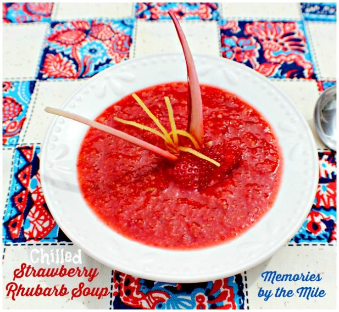 Strwaberry Rhubarb Soup