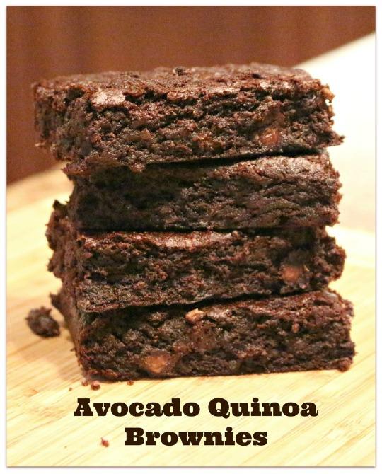 Avocado Quinoa Brownies