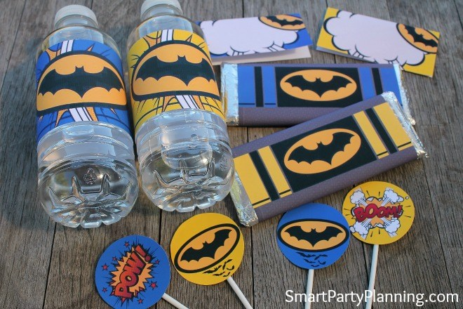 Batman Inspired Printable Set