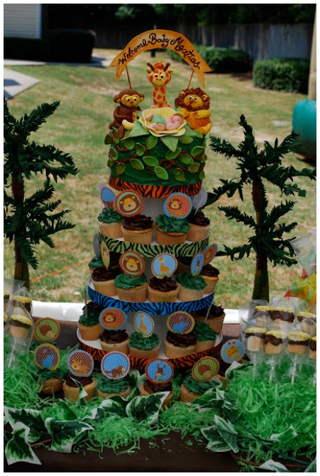 Safari Cupcake Tower