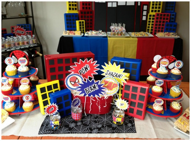 Popping Spiderman Birthday Party